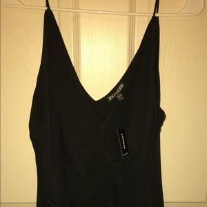 Express ruched black cami stretchy